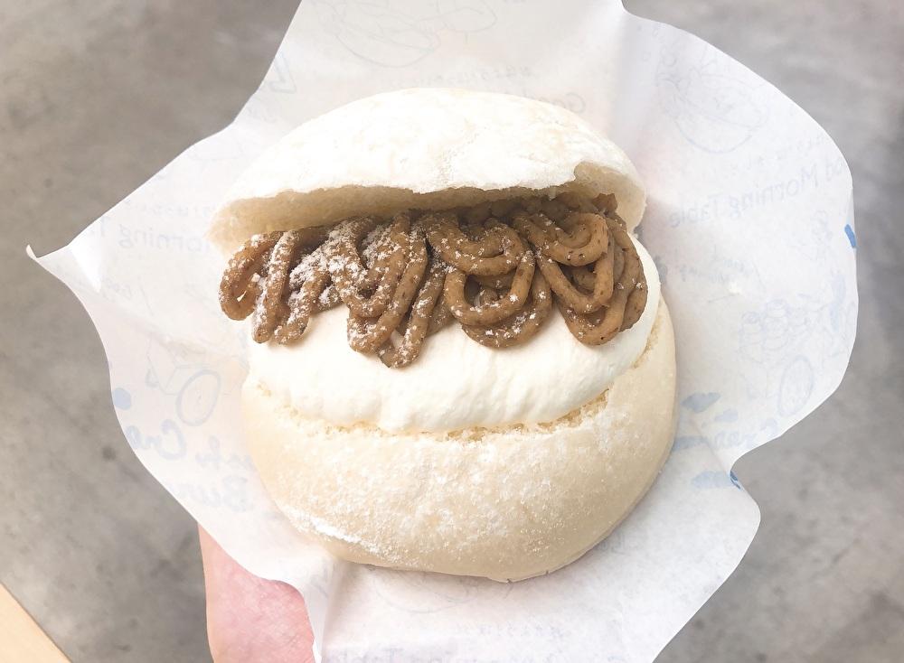 横浜髙島屋『グッドモーニングテーブル』の生クリームバーガー!季節限定のモンブラン